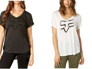 Special Fox Racing Womens Responded T-shits S/Sleeve Tee Casual Crew Tops XS-M