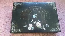 Antique Edwardian Victorian Japanese Lacquer Writing Box Slope