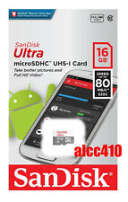 SanDisk Ultra 16GB 80MB/s Micro SDHC Memory Card