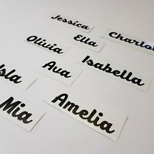4x Personalised name vinyl decal sticker for xmas, glass, crafts, bauble etc.
