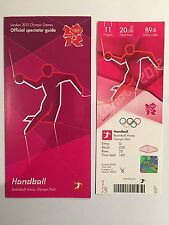 London 2012 Olympic ticket Genuine Handball Basketball Arena & Spectator Guide
