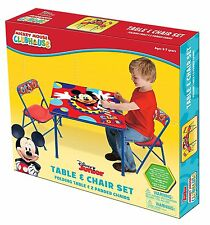 Disney Mickey Mouse Clubhouse Kids Activity Folding Table and Two Chairs Set NEW