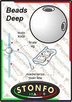 Perline stonfo beads Deep doppio foro non intersecante
