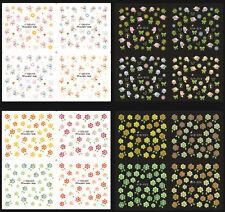 Beauty Glow In Dark Flower Design Water Transfer Nail Art Sticker Decals GID