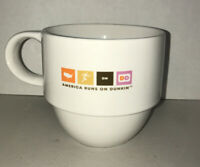 America Runs On Dunkin Donuts Stackable Ceramic Coffee Mug   2007