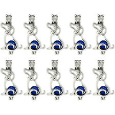 Bulk 10pcs!  Silver Dog Beads Cage Locket Pendant Essential Oil Diffuser K807