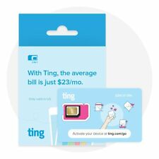 Ting GSM SIM card - Average monthly bill is $23. No contract. Universal NEW