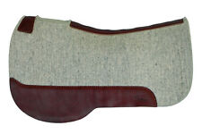 """1/2"""" NTRL Square Horse Contour Wool Felt Trail Saddle Pad,5 Star Equine Products"""