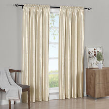 Pair Curtain Panels Elegant  Soho Faux Silk 100% Polyester (Set of 2)