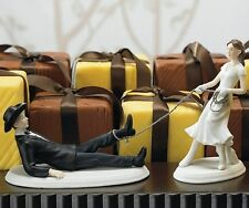 Western Lasso Funny Bride and Groom Wedding Cake Topper