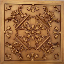 Faux Tin PVC Ceiling Tile for Glue Up or Drop In 24x24 #25