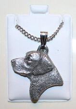 Labrador Retriever Lab Head Fine Pewter Pendant w Chain Necklace USA Made