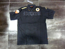 5091 TG. XL AS ROMA KAPPA POLO EROI TOTTI DE ROSSI OFFICIAL POLO JERSEY NERA