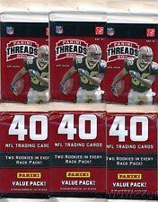(3) 2011 Panini Threads Football HUGE Factory Sealed JUMBO RACK Packs-120 Cards