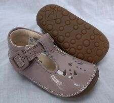 BNIB Clarks Girl Little Weave Pink Patent Leather Cruising First Shoes E/F/G/H