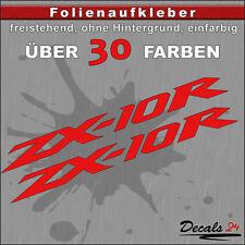 2er SET - ZX-10R Sponsoren-Folienaufkleber Auto/Motorrad - 30 Farben - 18cm