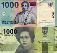 INDONESIA / INDONESIEN 2*1000 Rupiah Banknote aus Asien 2009 2016 Lot 2 Stk UNC