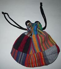 Guatemalan Drawstring BAG - Cinch Pouch Small Colorful Cloth Purse Stash FT35