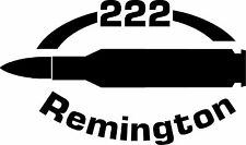 222 Remington Rifle Ammunition Bullet exterior oval decal sticker car or wall