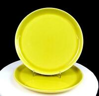 """RUSSEL WRIGHT STEUBENVILLE MODERN CHARTREUSE 2 PC 10"""" DINNER PLATES 1939-1959"""
