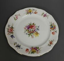 Kuchenteller Royal Worcester Hammersley 20 cm Blumen/ Goldrand