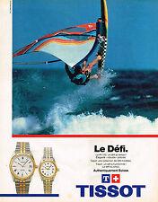 PUBLICITE ADVERTISING 025  1984  TISSOT  collection montre PR100  LE DEFI