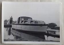 1950s/ 1960s B/W Photograph. Norfolk Broads Cruiser/ Boat S186. Potter Heigham?
