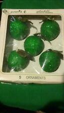 Vintage Pyramid 5 Christmas Apple Ornaments Decor Sugared Sparkling Retro Funky