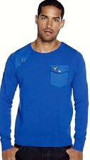 New Mens Voi Jeans XPG Shoot Cobalt  Crew Neck Jumper Size M