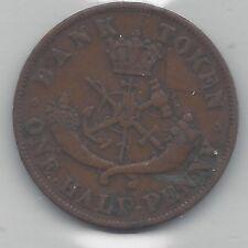 **1852** Half Penny Token, Coin Mart Graded**VF-30**
