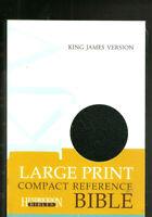 KJV Large Print Compact Reference Bible - NEW Black Bonded Leather