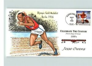 JESSE OWEN, Olympic GOLD MEDALIST at BERLIN Olympics of 1936, Hand Painted First