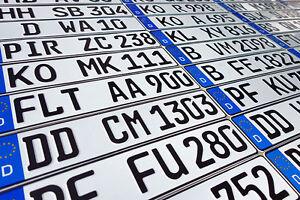 ORIGINAL German License Plate Mitsubishi Audi BMW Mercedes Benz Porsche VW Volvo