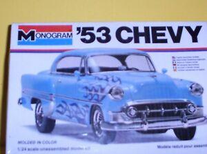 Monogram  1/24  scale  1953  Chevy   model  car ---  SEALED  OLDIE