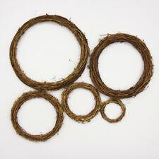10xNatural Wood Vine Ring Wreath Rattan Wicker Garland Party Decor Christmas DIY