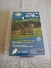 COME WITH ME KITTY~HARNESS & BUNGEE LEASH~LARGE CATS up to 40 Lbs.~BRAND NEW~