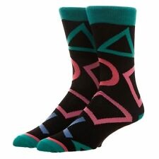 Licenza Ufficiale Men's SONY PLAYSTATION TUTTO Stampa Crew Socks