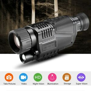HD Infrared Digital Video Night Vision Zoom Monocular Telescope Outdoor Hunting