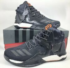b5d684d8ce41 Adidas D Rose 7 Primeknit Men s Shoes Size 11.5 Black White B49511 Derrick  Rose