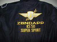 NEU ZÜNDAPP KS 50 SUPER SPORT Oldtimer Fan-Jacke schwarz veste jacket jakka jas