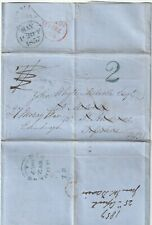 1857 Dominica Sugar Trade Letter To St Andrews Blue/Green H/S 2 Redirected Edinb