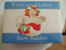 "Fitz and Floyd 2005""Snow Buddies"" Basket-Adorable Snowman-L@K-Christmas!"