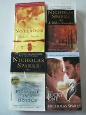 NICHOLAS SPARKS LOT OF 4 PAPERBACKS The Notebook Lucky One Message in a Bottle