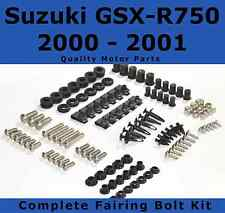 Complete Fairing Bolt Kit body screws for Suzuki GSX-R 750 2000 - 2001 Stainless