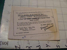 vintage travel related paper: FRANCES GREENWOOD Corset Shop in Boston 1960's
