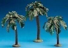 "FONTANINI NATIVITY - 5"" SCALE - SINGLE TRUNK PALM TREE SET OF 3 - PALM TREES"