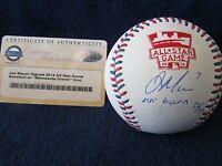"Joe Mauer Autographed '14 All Star Game Baseball w/""MN Grown"" Insc. - Steiner"