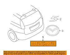 MAZDA OEM 06-10 5 Liftgate Tailgate Hatch-Emblem Badge Nameplate C23551711