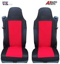 QUALITY RED TAILORED SEAT COVERS SET FOR DAF XF105 XF 105 CF LF NEW