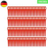 200 Kunststoffmesser Ersatzmesser / Messer/Nylon Passt Für Akku Rasentrimmer